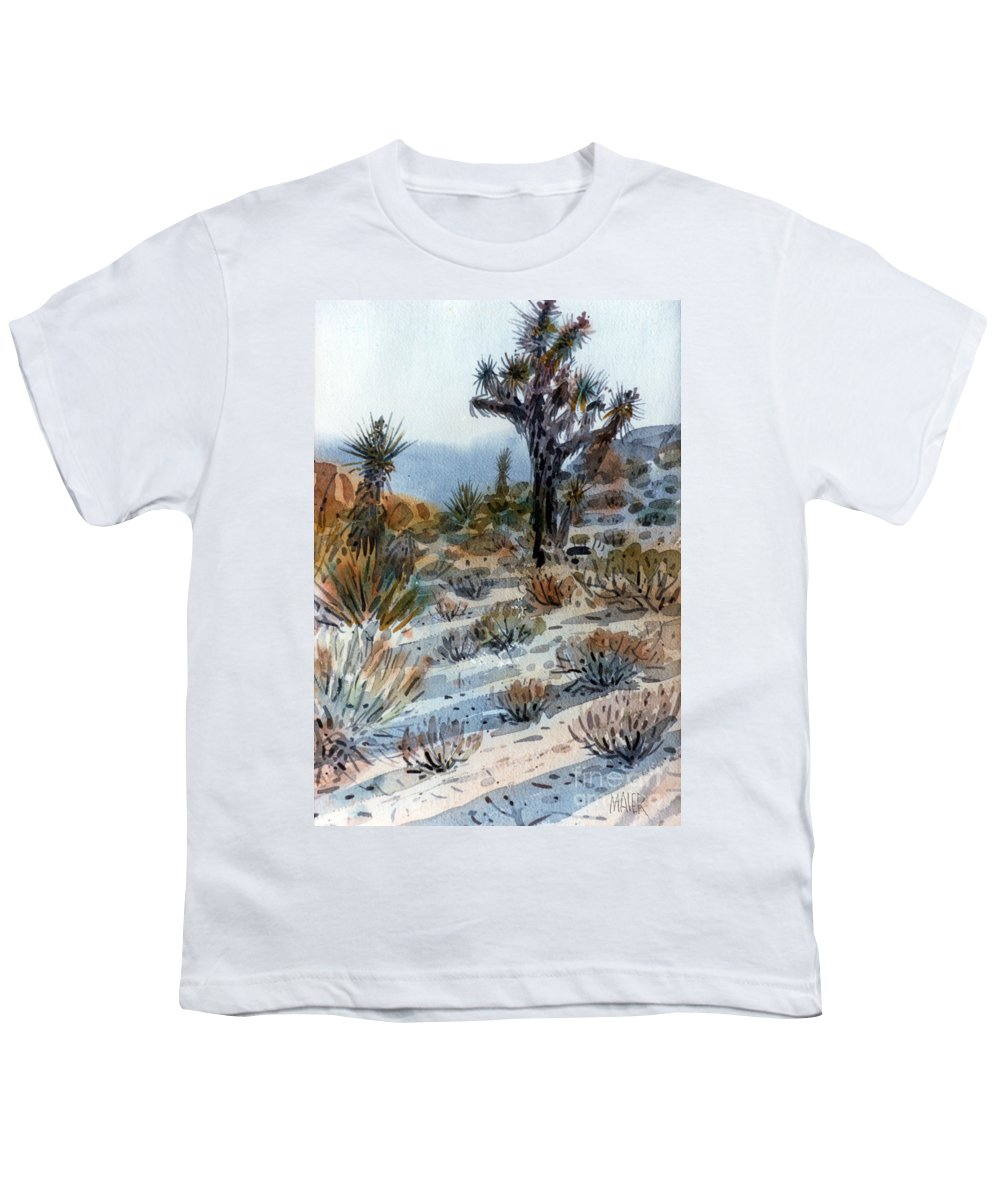 Joshua Tree Youth T-Shirt featuring the painting Joshua Tree by Donald Maier