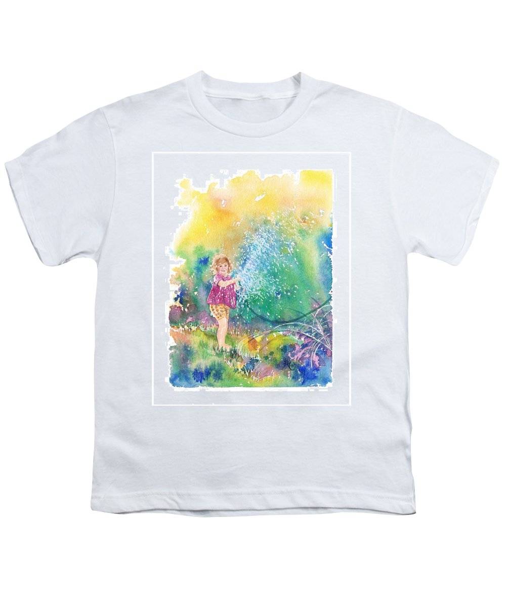 Children Youth T-Shirt featuring the painting Summer Fun by Gale Cochran-Smith