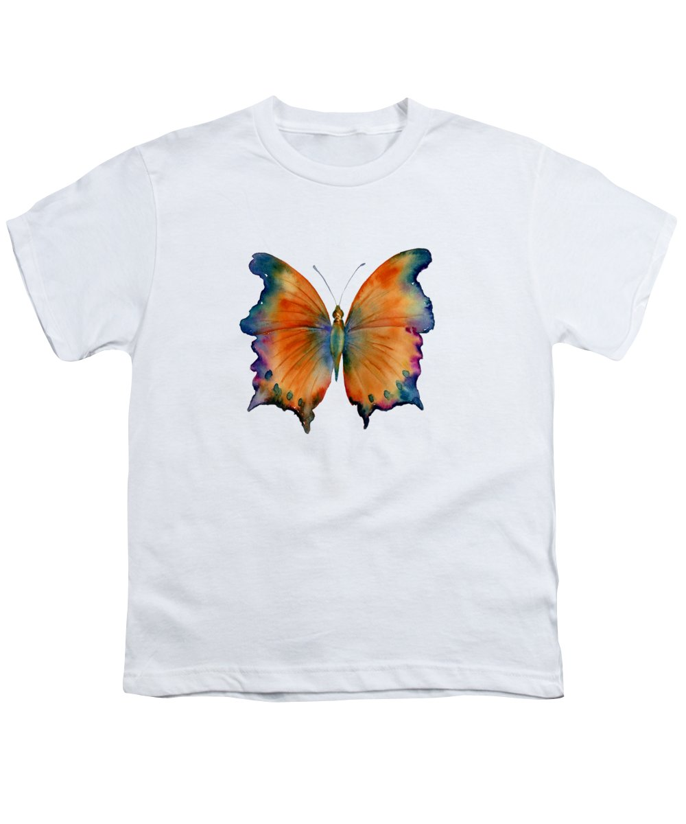 Wizard Butterfly Youth T-Shirt featuring the painting 1 Wizard Butterfly by Amy Kirkpatrick