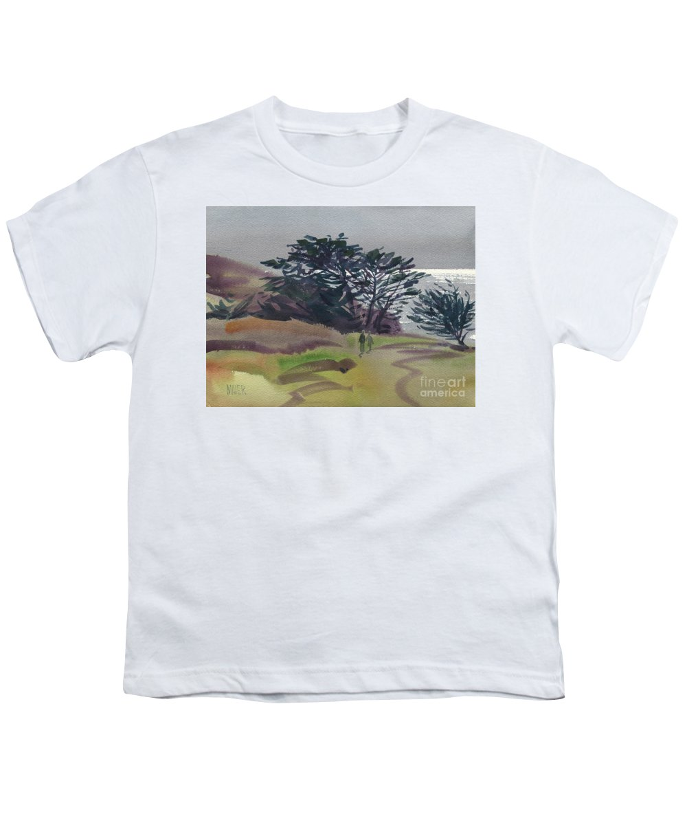 Plein Air Youth T-Shirt featuring the painting Miramonte Point 1 by Donald Maier