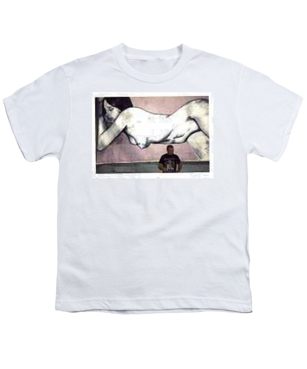 Nude Youth T-Shirt featuring the painting Missy by Thomas Valentine