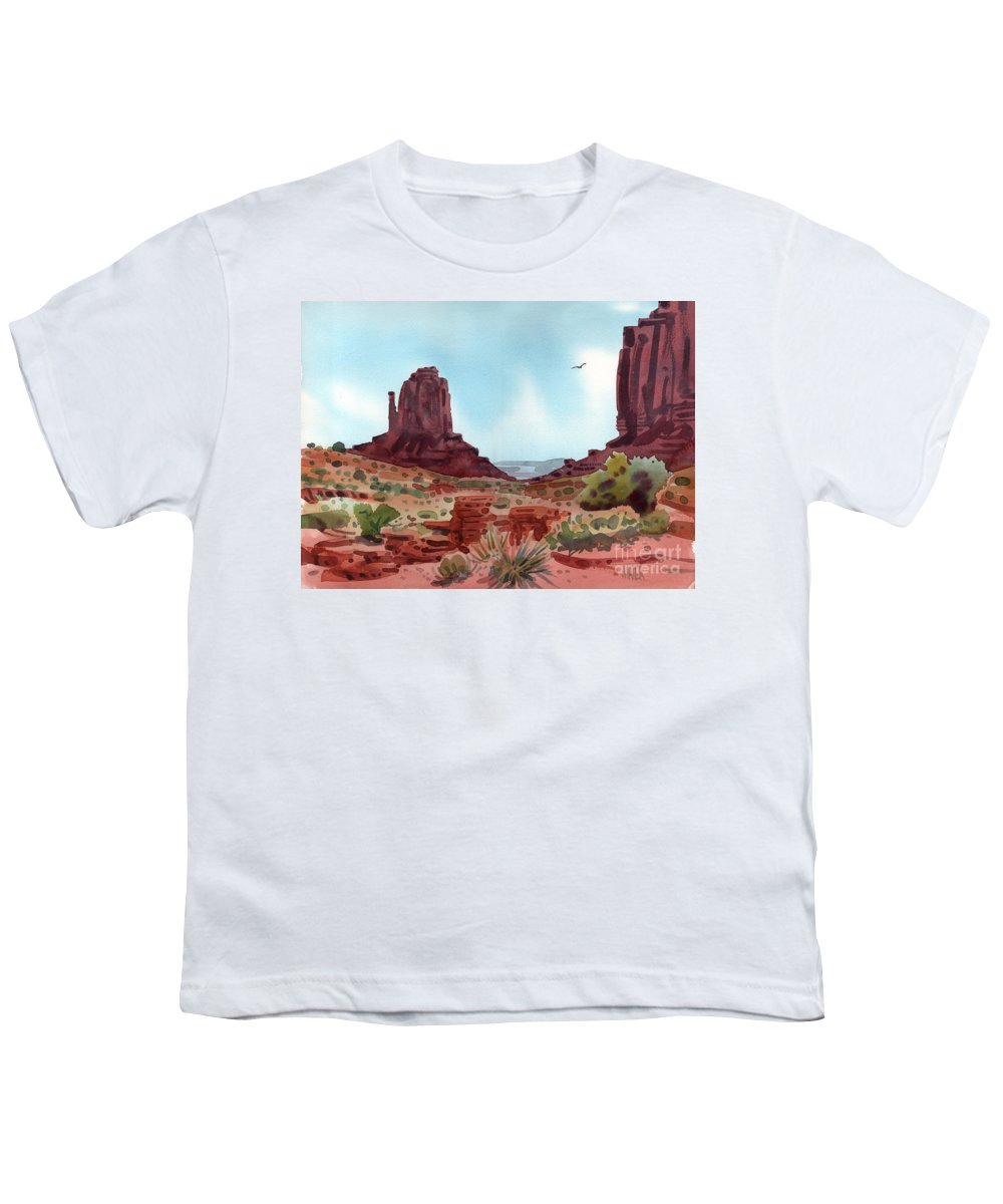 Right Mitten Youth T-Shirt featuring the painting Right Mitten by Donald Maier