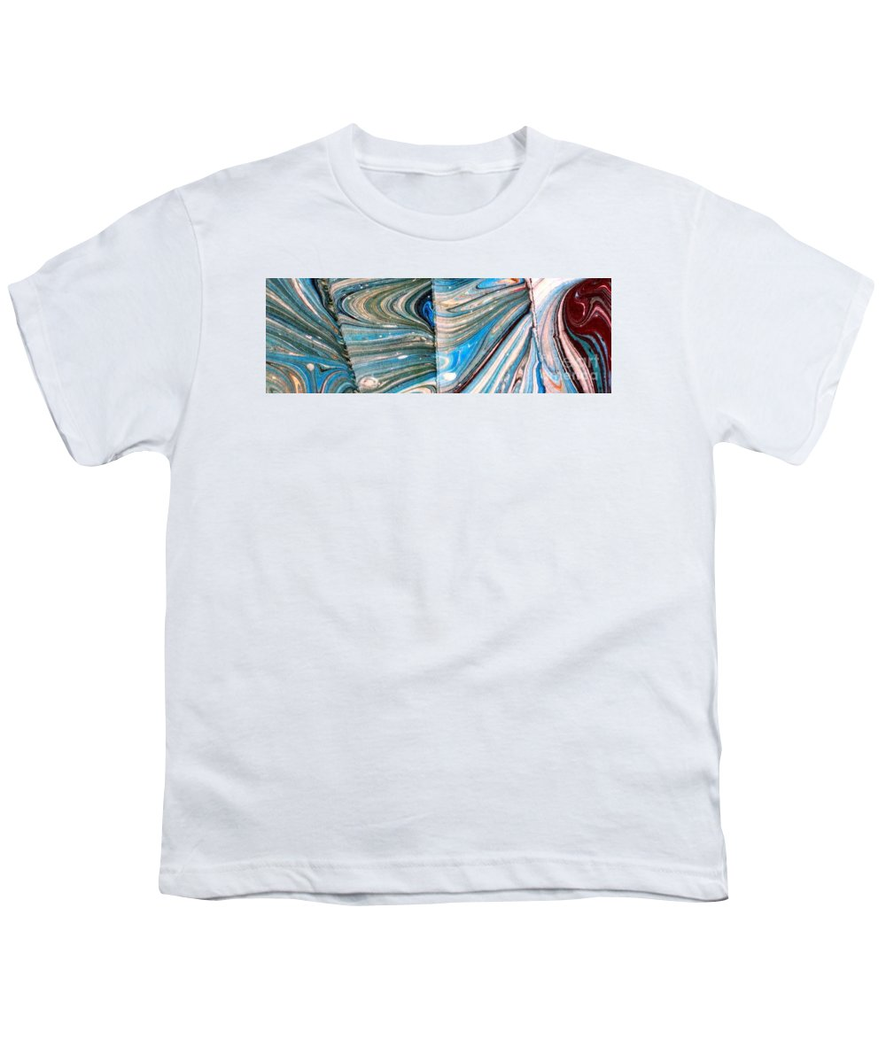 Abstract Youth T-Shirt featuring the painting Water Marbling Art, Ebru by Dilan C
