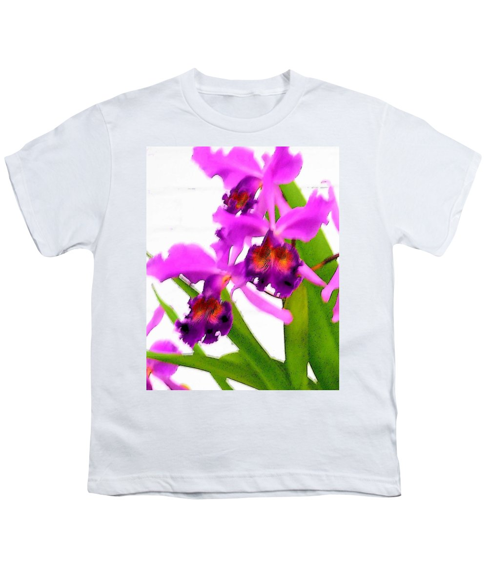 Flowers Youth T-Shirt featuring the digital art Abstract Iris by Anita Burgermeister
