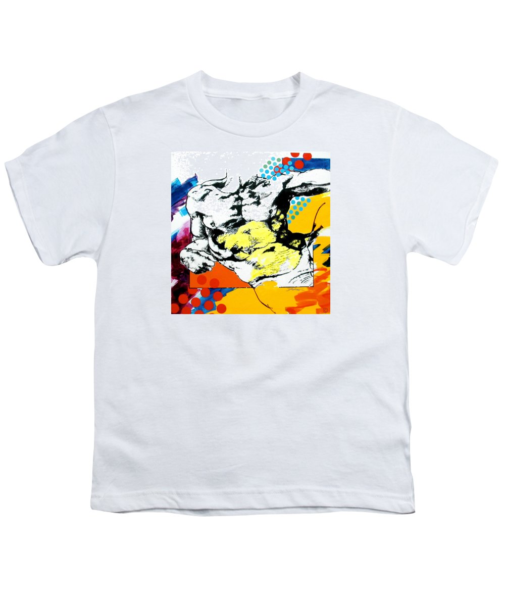 Pop Youth T-Shirt featuring the painting Adam by Jean Pierre Rousselet