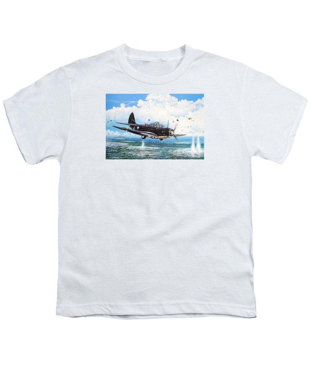 Military Youth T-Shirt featuring the painting Against The Odds by Marc Stewart