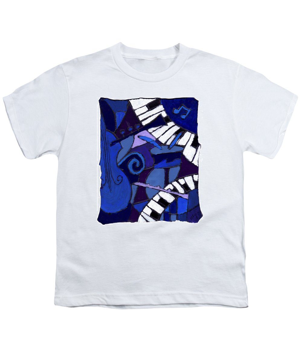 Jazz Youth T-Shirt featuring the painting All That Jazz 3 by Wayne Potrafka