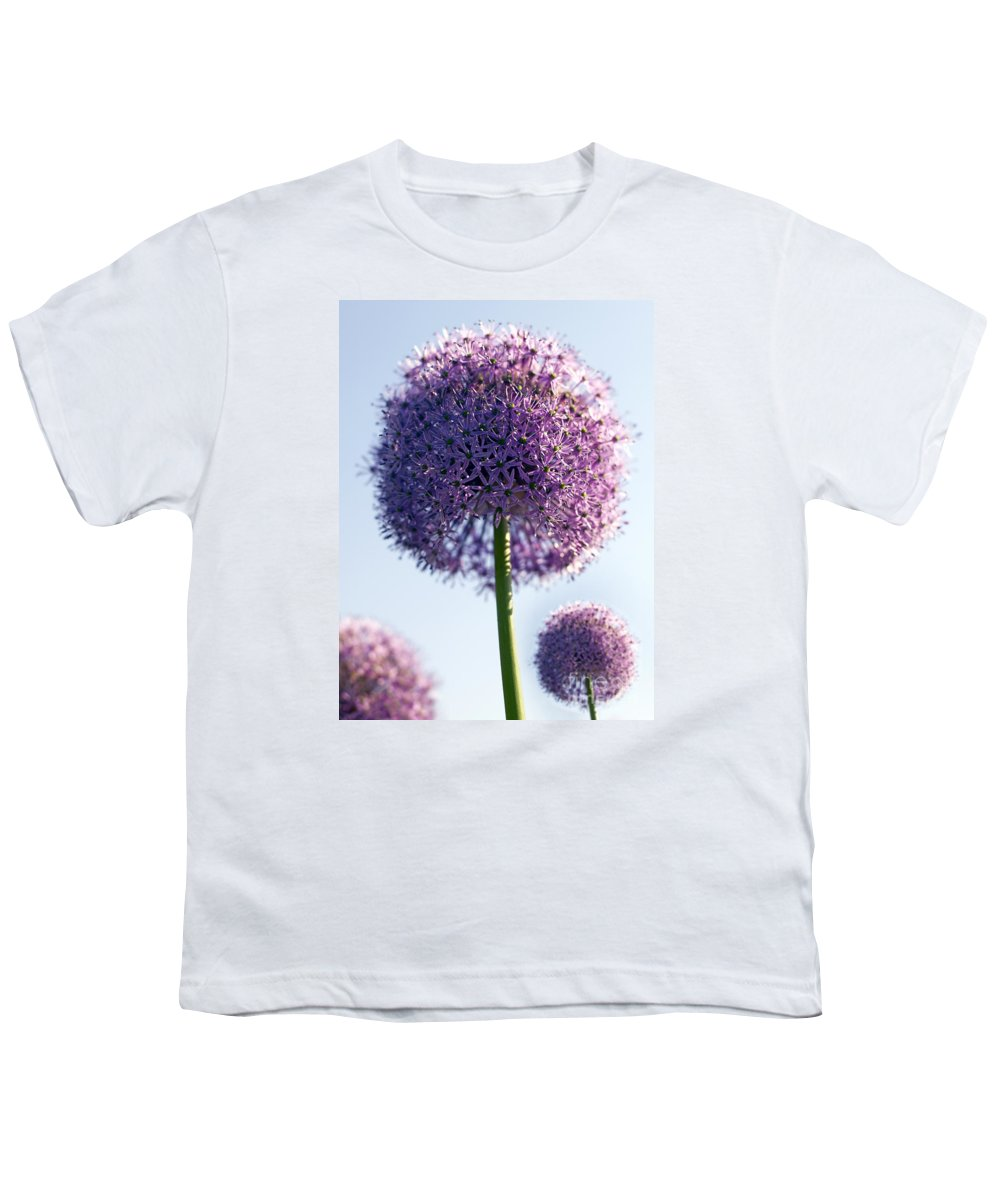 Allium Youth T-Shirt featuring the photograph Allium Flower by Tony Cordoza
