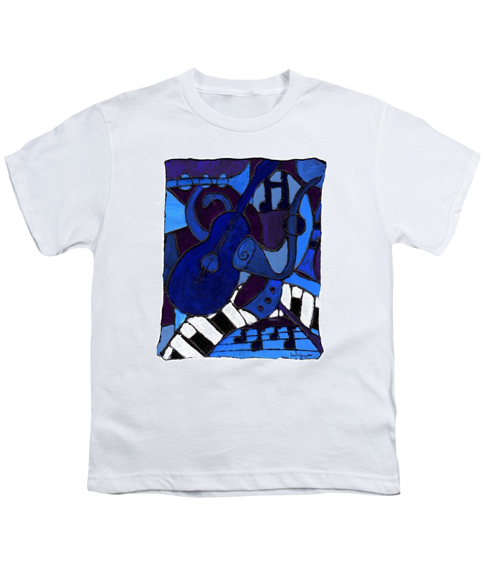 Blues Youth T-Shirt featuring the painting and All that Jazz one by Wayne Potrafka