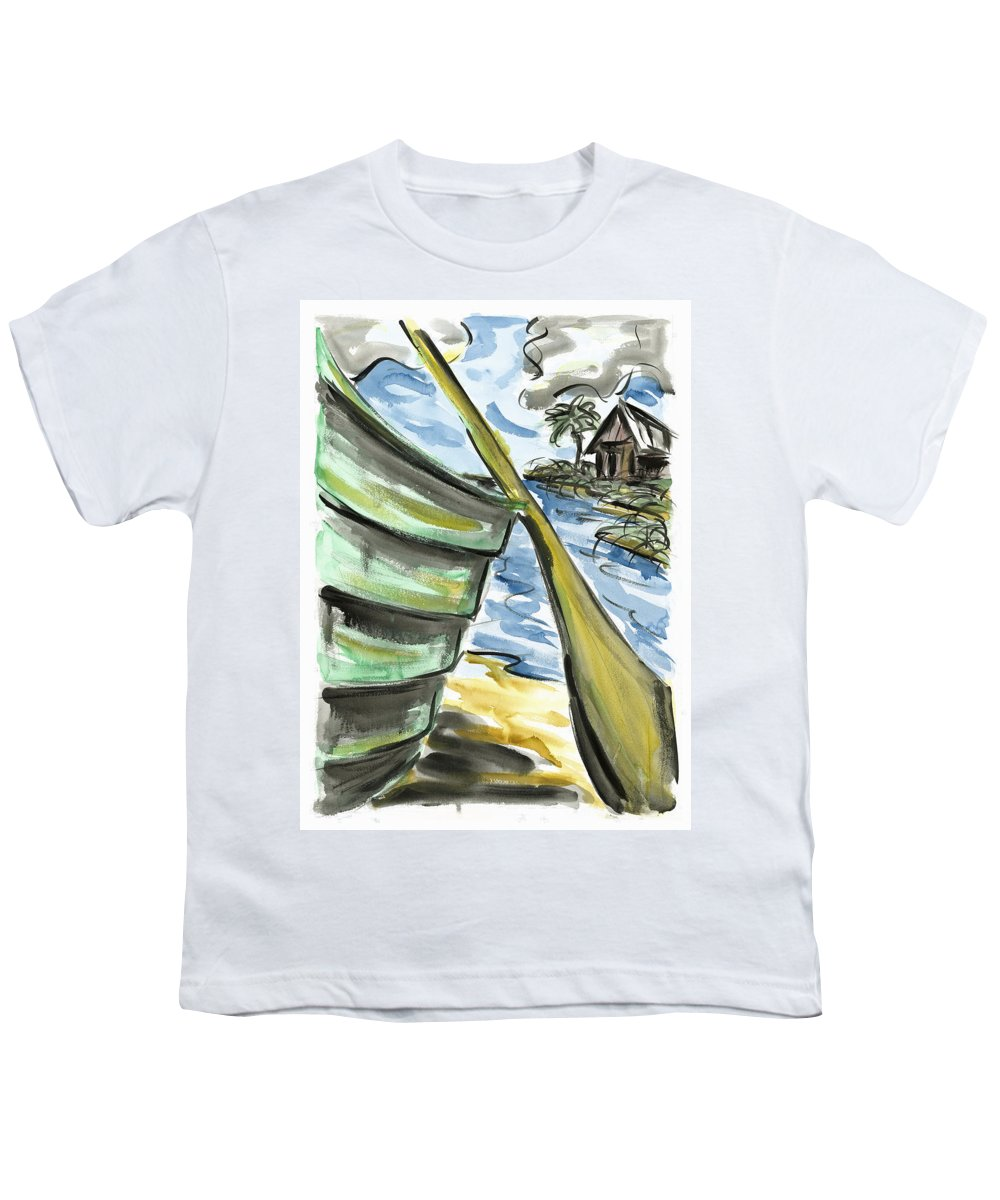 Seascape Youth T-Shirt featuring the painting Ashore by Robert Joyner