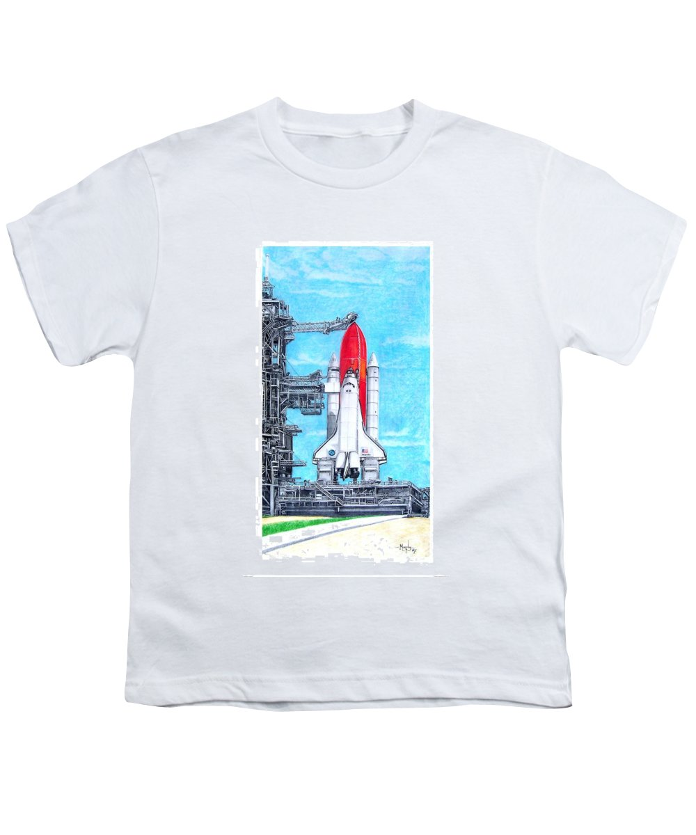 Drawing Youth T-Shirt featuring the drawing Atlantis by Murphy Elliott