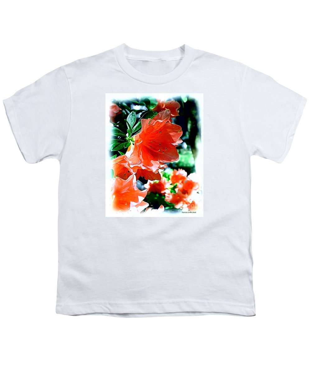 Fine Art Youth T-Shirt featuring the painting Azaleas In The Spring by Patricia Griffin Brett