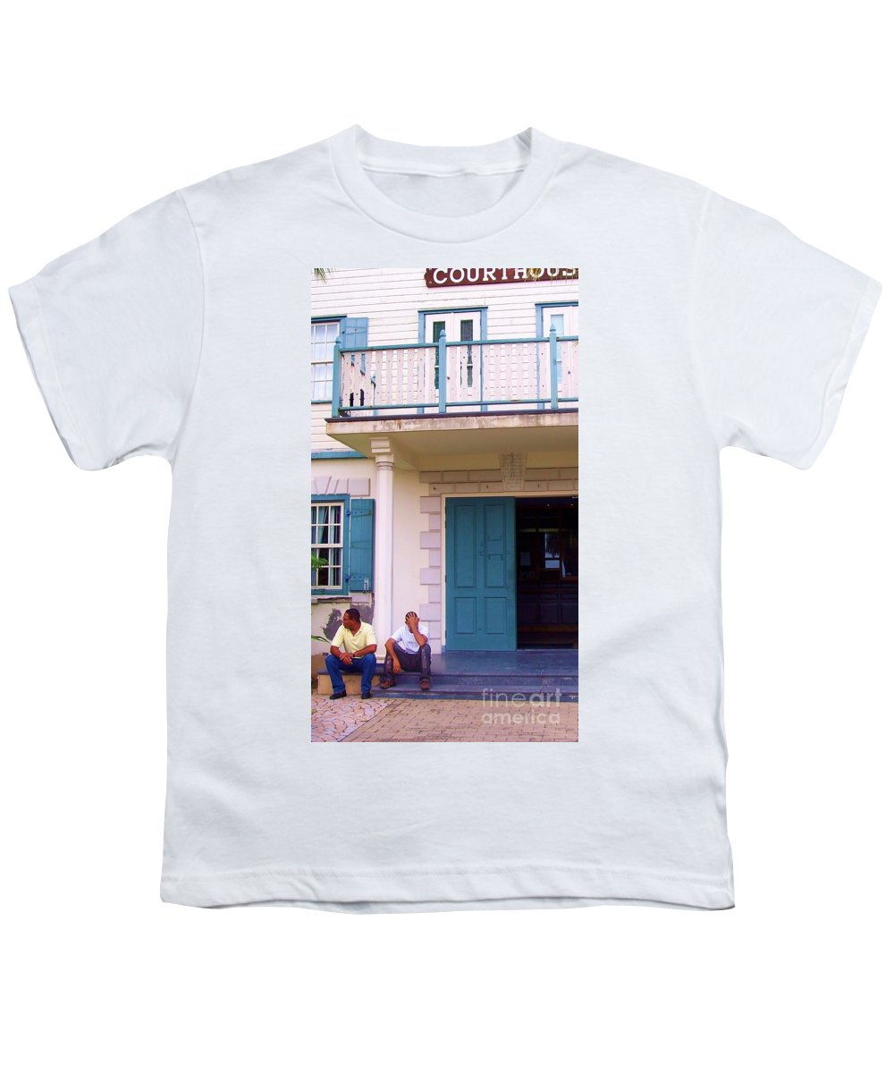 Building Youth T-Shirt featuring the photograph Bad Day In Court by Debbi Granruth