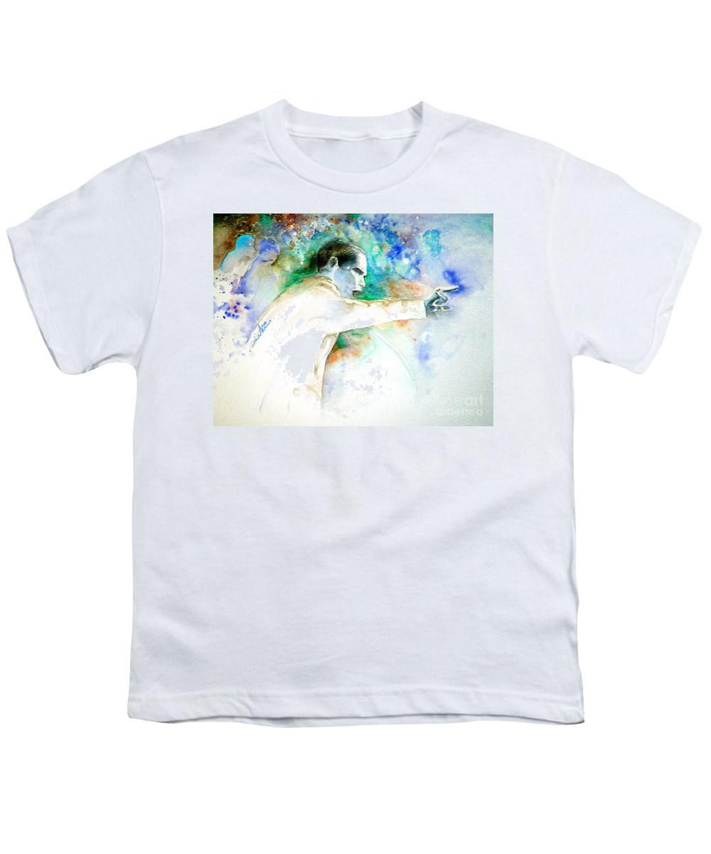 Portrait Barack Obama Youth T-Shirt featuring the painting Barack Obama Pointing At You by Miki De Goodaboom