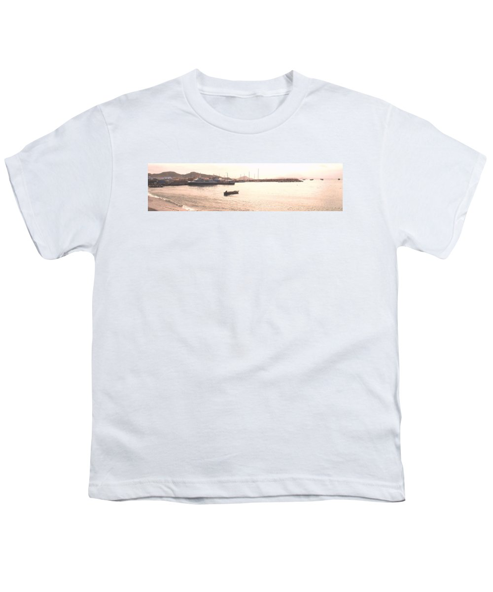 St Kitts Youth T-Shirt featuring the photograph Basseterre Harbour by Ian MacDonald