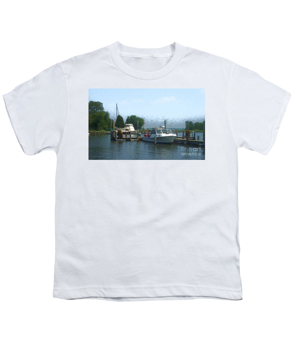 Boat Youth T-Shirt featuring the photograph Beached Buoys by Debbi Granruth