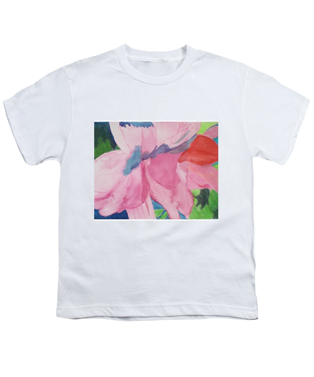 Flower Youth T-Shirt featuring the painting Beautiful Azalea by Hal Newhouser