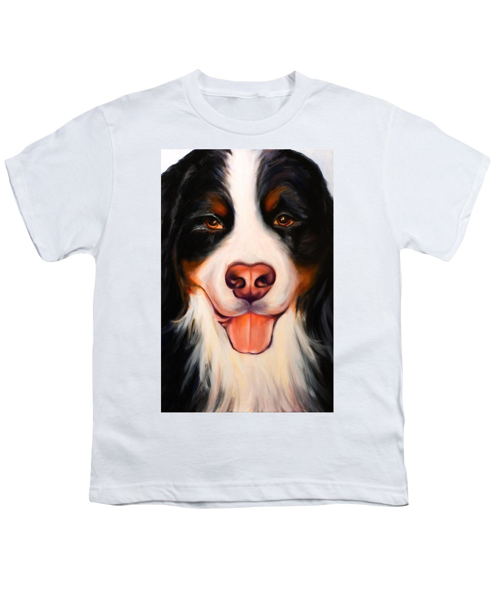 Dog Youth T-Shirt featuring the painting Big Willie by Shannon Grissom