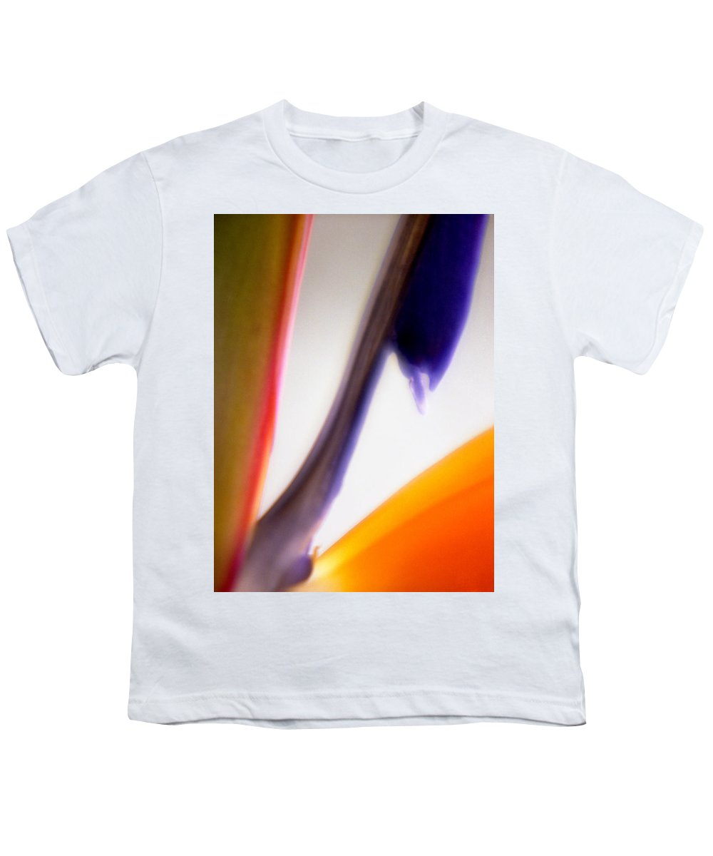 Macro Youth T-Shirt featuring the photograph Bird Of Paradise by Lee Santa
