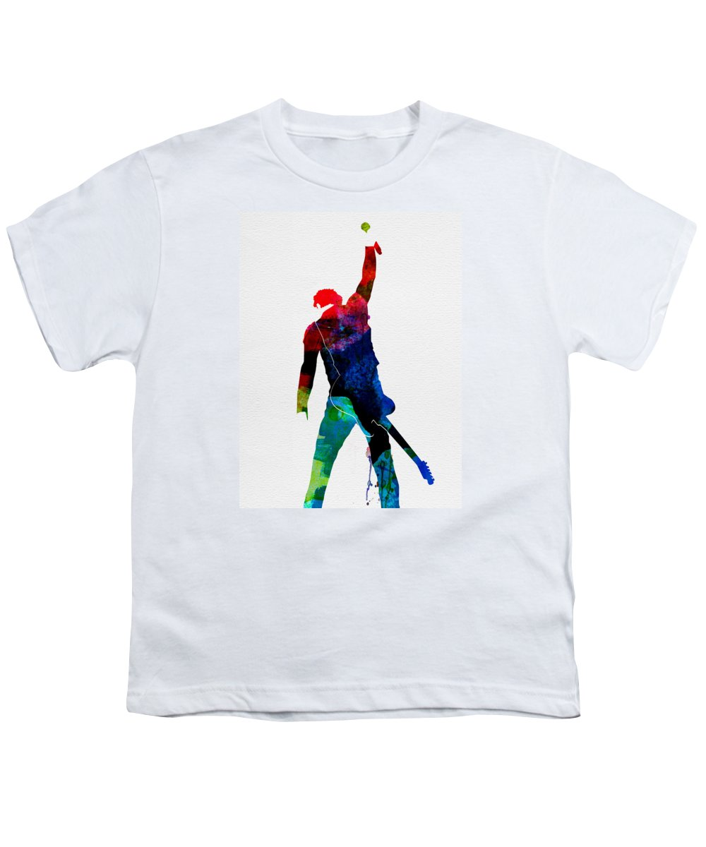 Bruce Springsteen Youth T-Shirt featuring the painting Bruce Watercolor by Naxart Studio