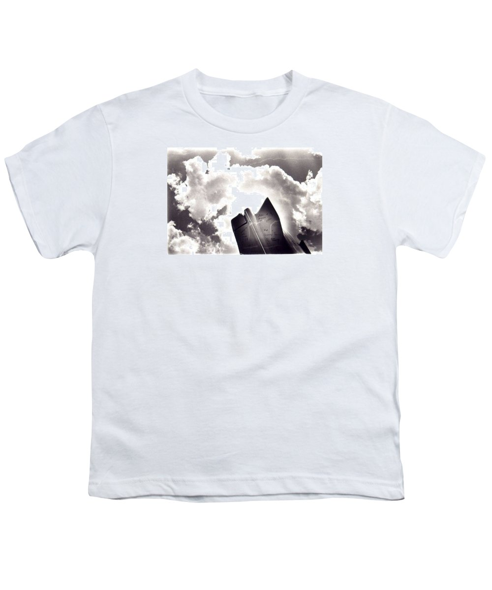 Cadillac Tailfin Youth T-Shirt featuring the photograph Cadillac by Ted M Tubbs
