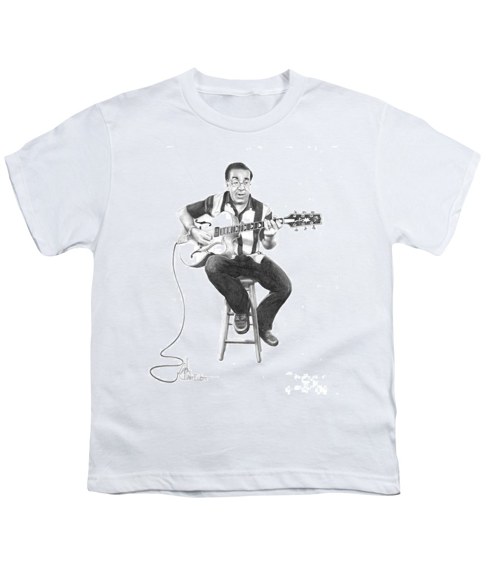 Drawing Youth T-Shirt featuring the drawing Carmine D'amico by Murphy Elliott