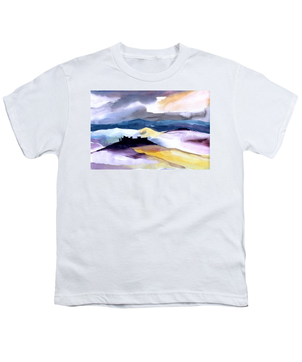 Water Youth T-Shirt featuring the painting Castle by Anil Nene