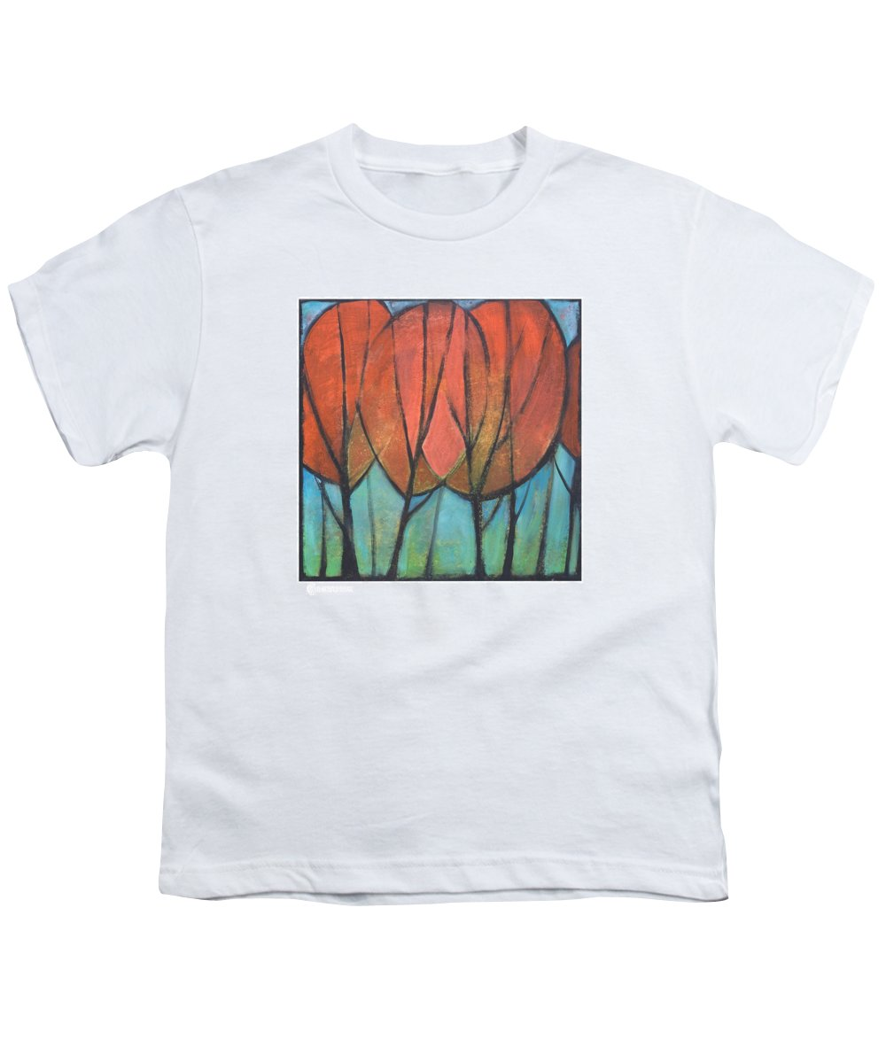 Trees Youth T-Shirt featuring the painting Cathedral by Tim Nyberg