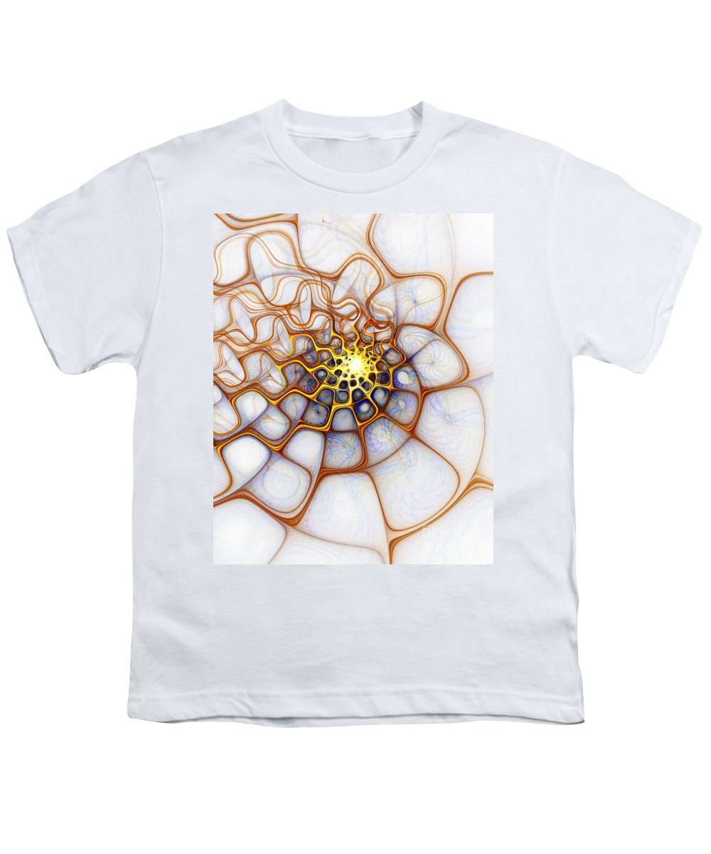 Digital Art Youth T-Shirt featuring the digital art Charlotte's Web by Amanda Moore