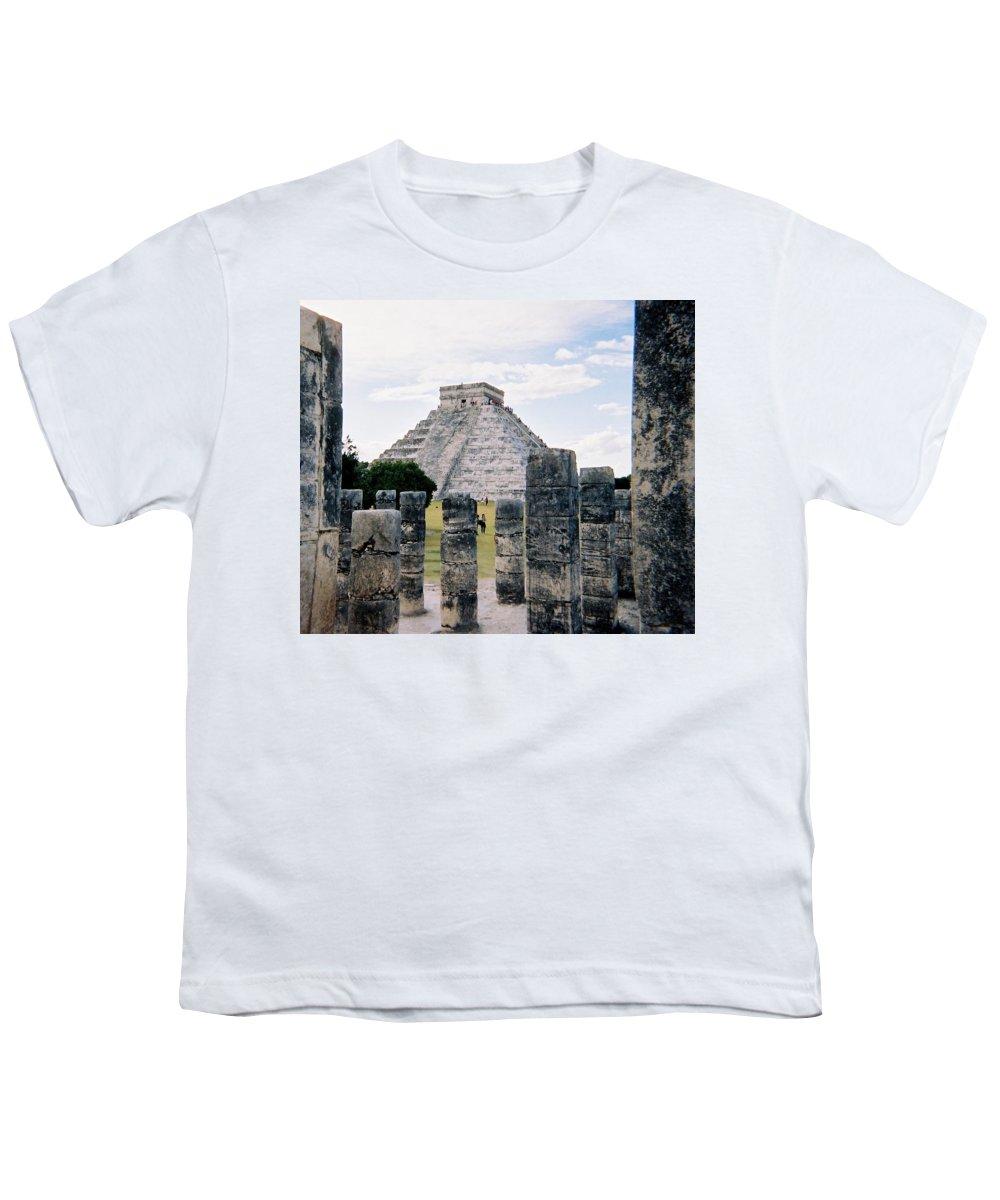 Chitchen Itza Youth T-Shirt featuring the photograph Chichen Itza 3 by Anita Burgermeister