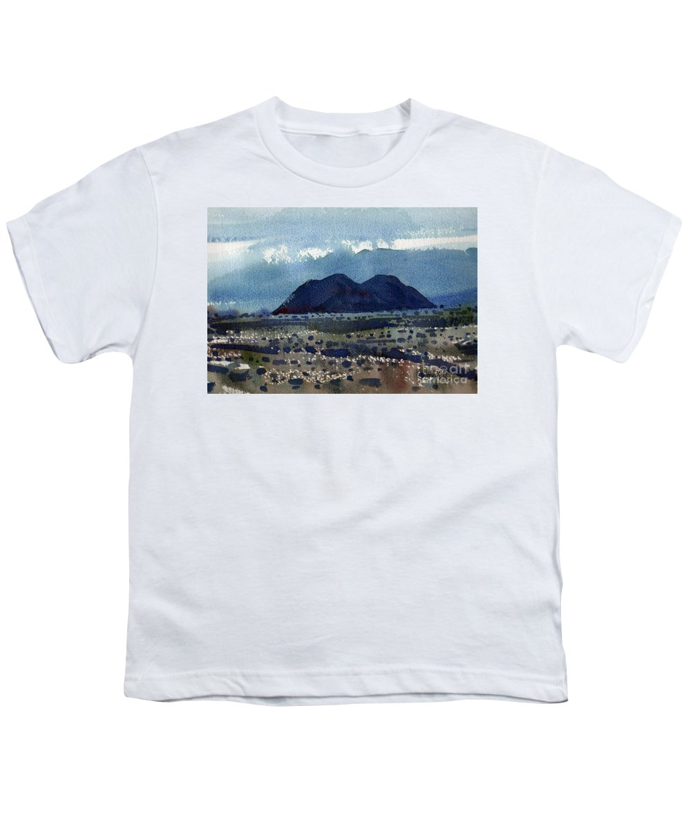 Cinder Cone Youth T-Shirt featuring the painting Cinder Cone Death Valley by Donald Maier