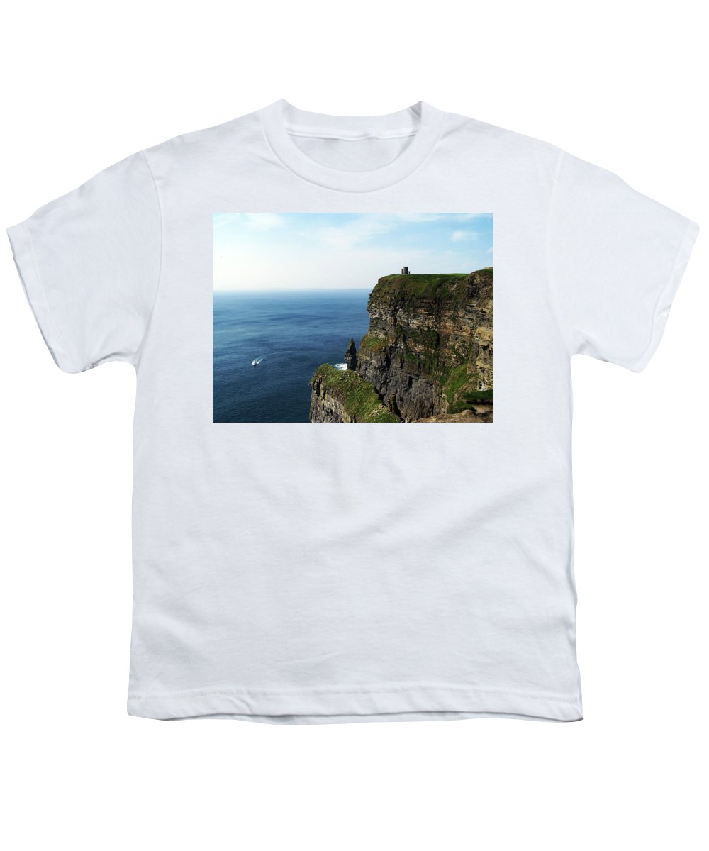 Irish Youth T-Shirt featuring the photograph Cliffs Of Moher Ireland by Teresa Mucha