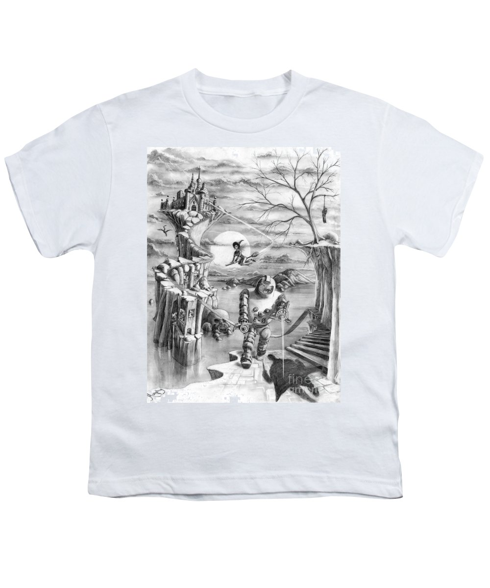 Witch Youth T-Shirt featuring the drawing Comic Book Cover by Murphy Elliott