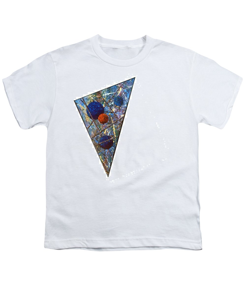 Abstract Youth T-Shirt featuring the painting Continuum 3 by Micah Guenther