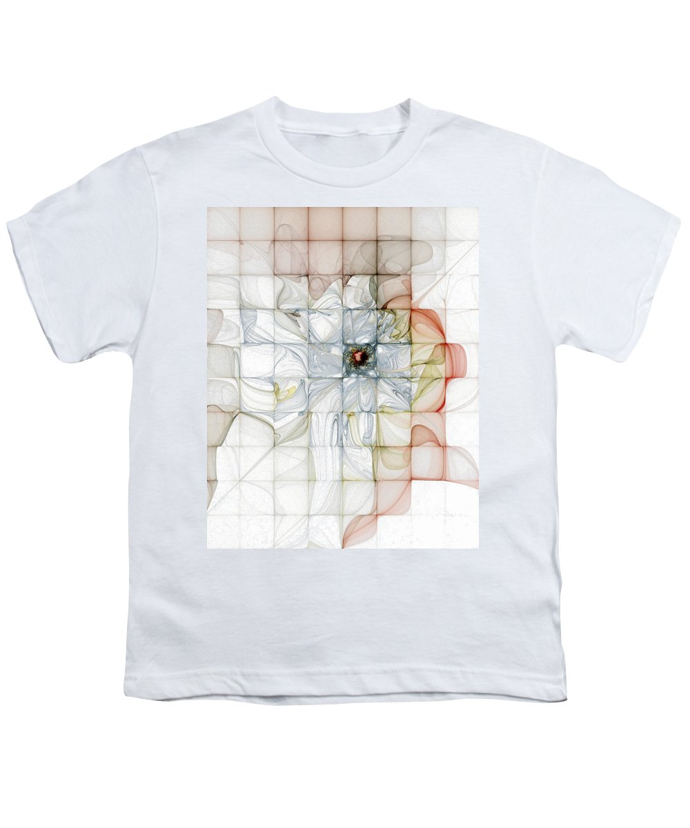 Digital Art Youth T-Shirt featuring the digital art Cubed Pastels by Amanda Moore