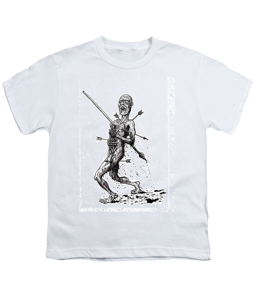 Dark Youth T-Shirt featuring the drawing Death March by Tobey Anderson