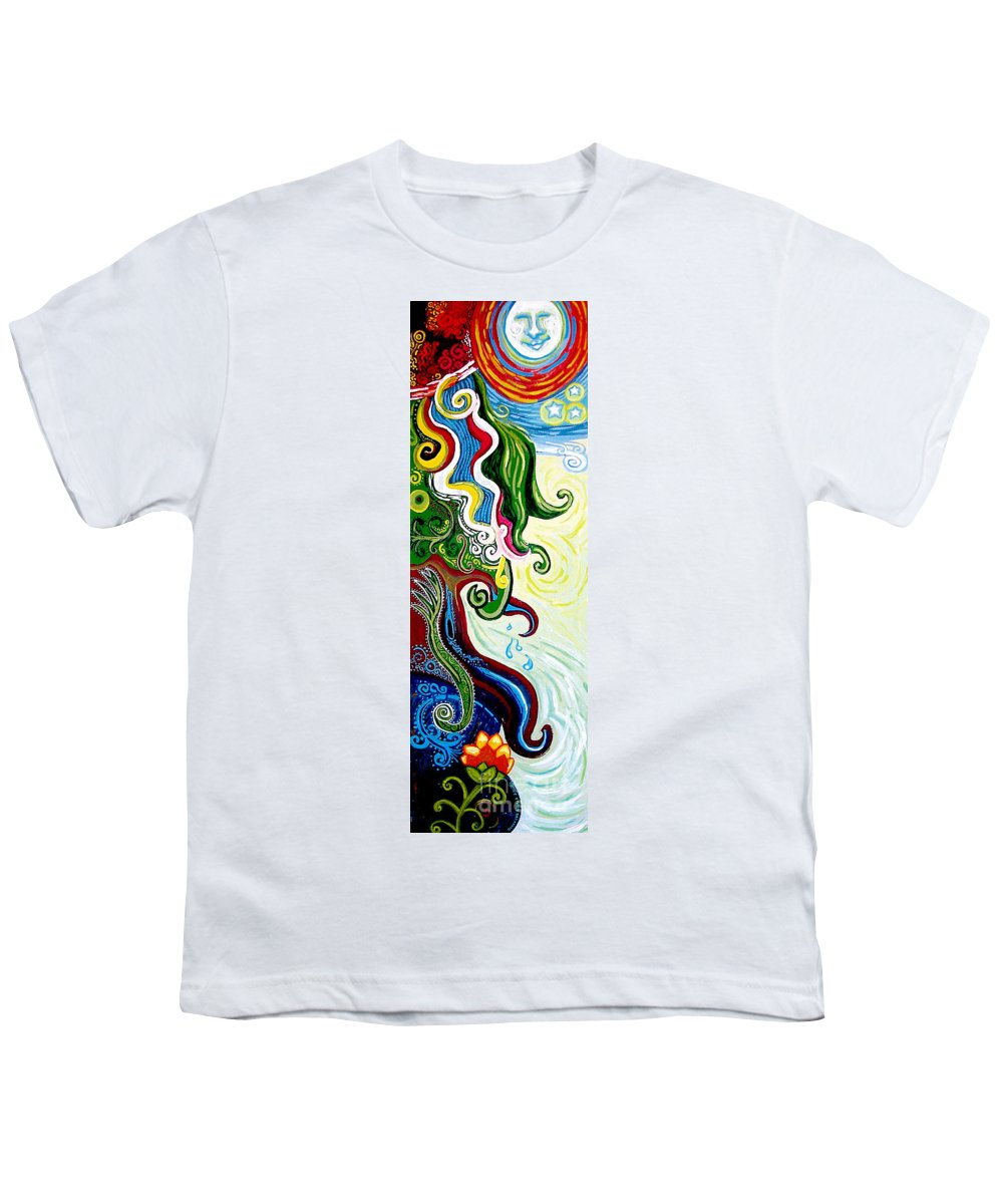 Mother Earth Youth T-Shirt featuring the painting Earths Tears by Genevieve Esson
