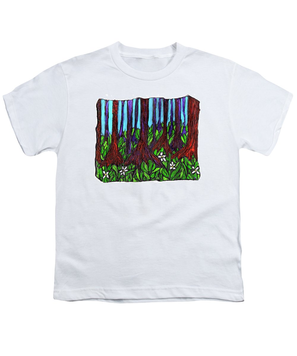 Trees Youth T-Shirt featuring the painting Edge Of The Swamp by Wayne Potrafka