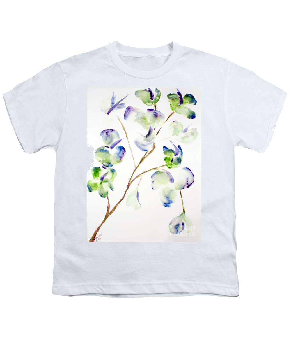Flower Youth T-Shirt featuring the painting Flower by Shelley Jones