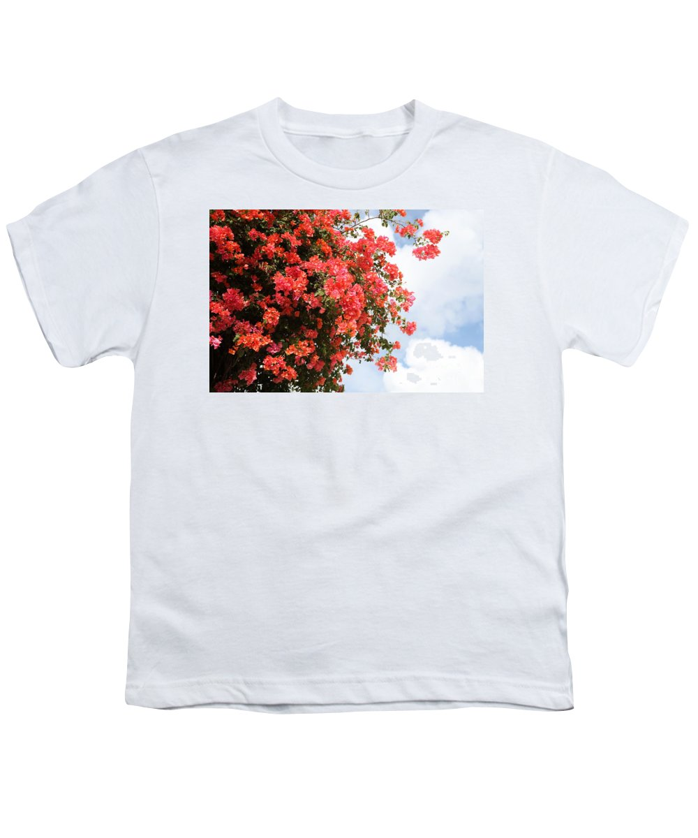 Hawaii Youth T-Shirt featuring the photograph Flowering Tree by Nadine Rippelmeyer