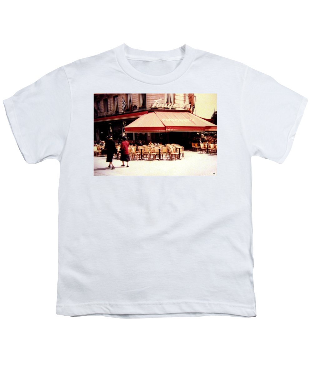 1955 Youth T-Shirt featuring the photograph Fouquets Of Paris 1955 by Will Borden