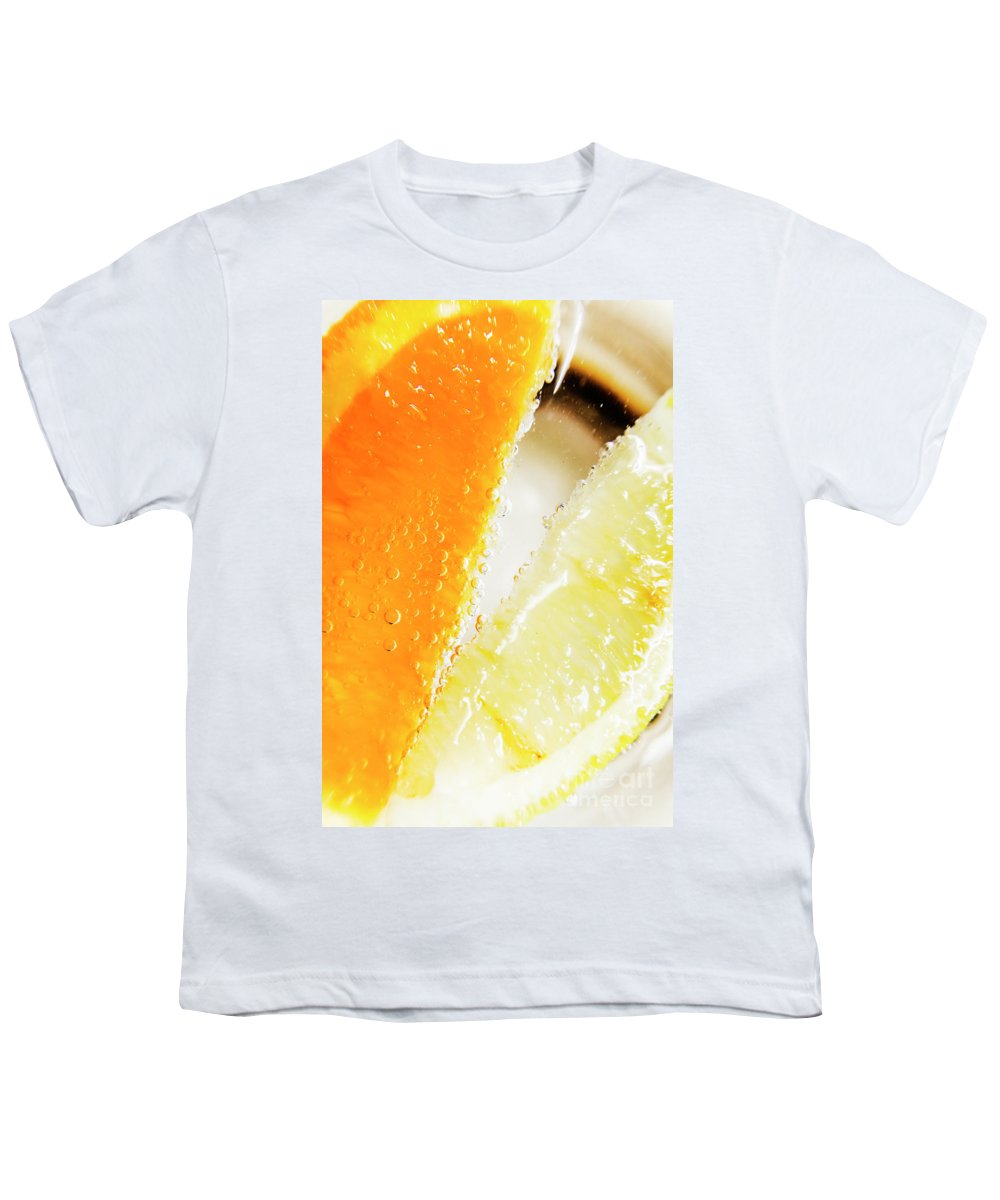 Slice Youth T-Shirt featuring the photograph Fruity Drinks Macro by Jorgo Photography - Wall Art Gallery