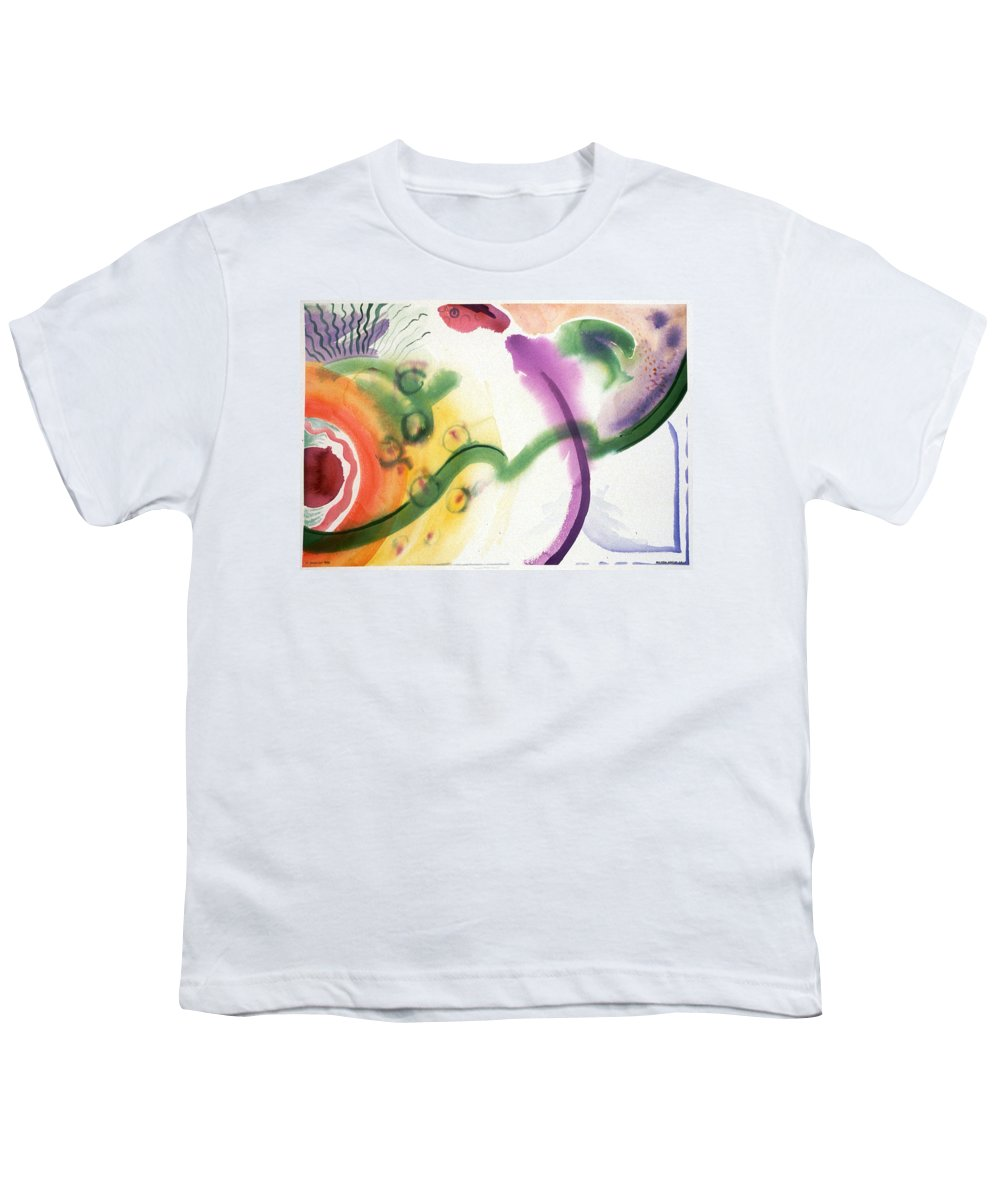 Abstract Youth T-Shirt featuring the painting Geomantic Blossom Ripening by Eileen Hale