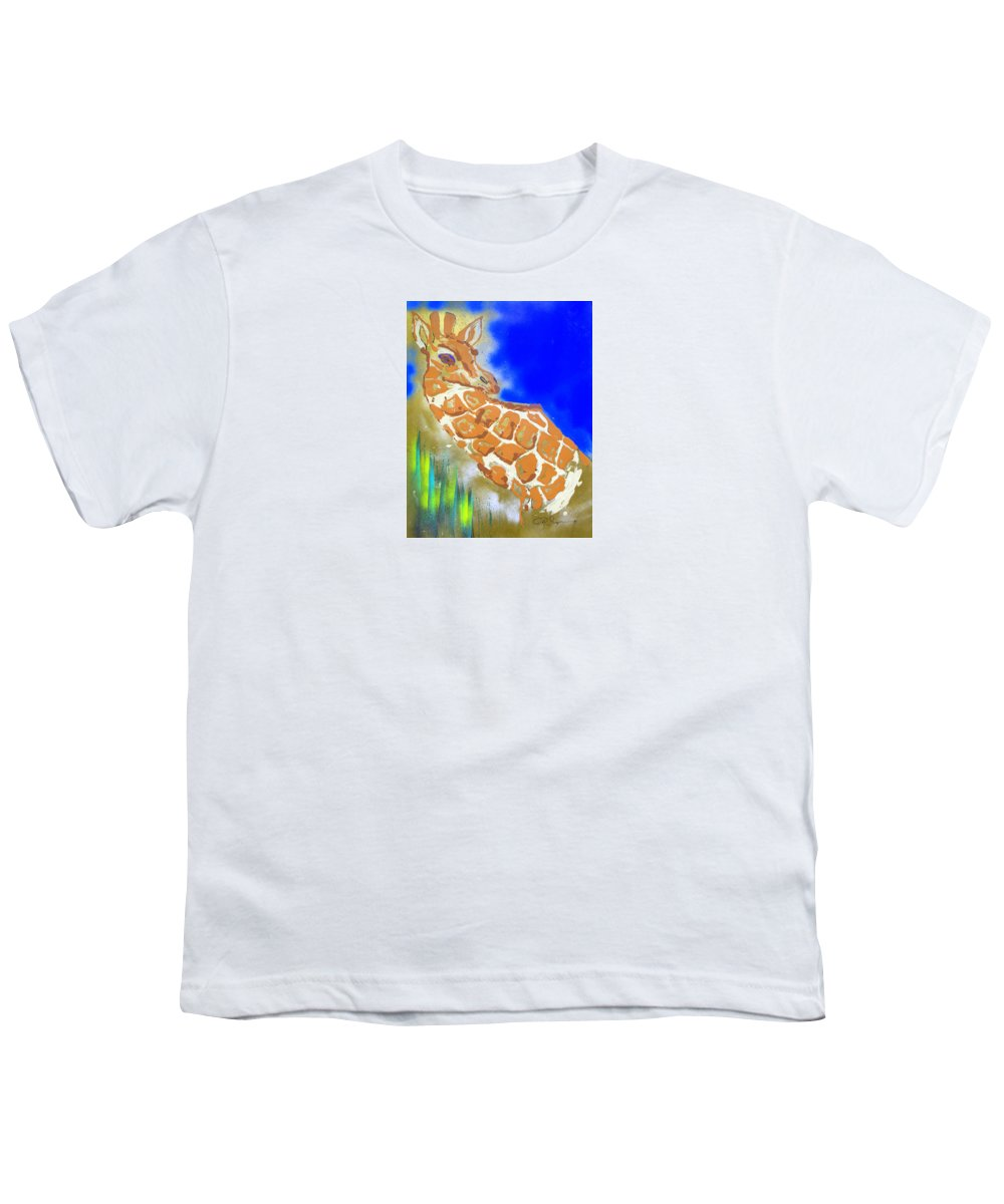 Impressionist Painting Youth T-Shirt featuring the painting Giraffe by J R Seymour