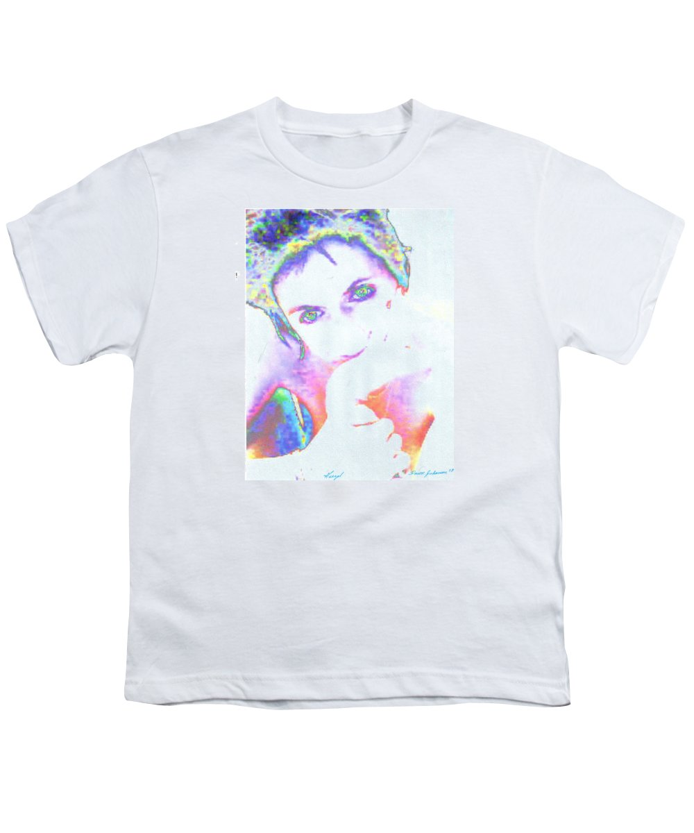 Portrate Of A French Girl Youth T-Shirt featuring the photograph Gisele by Dawn Johansen