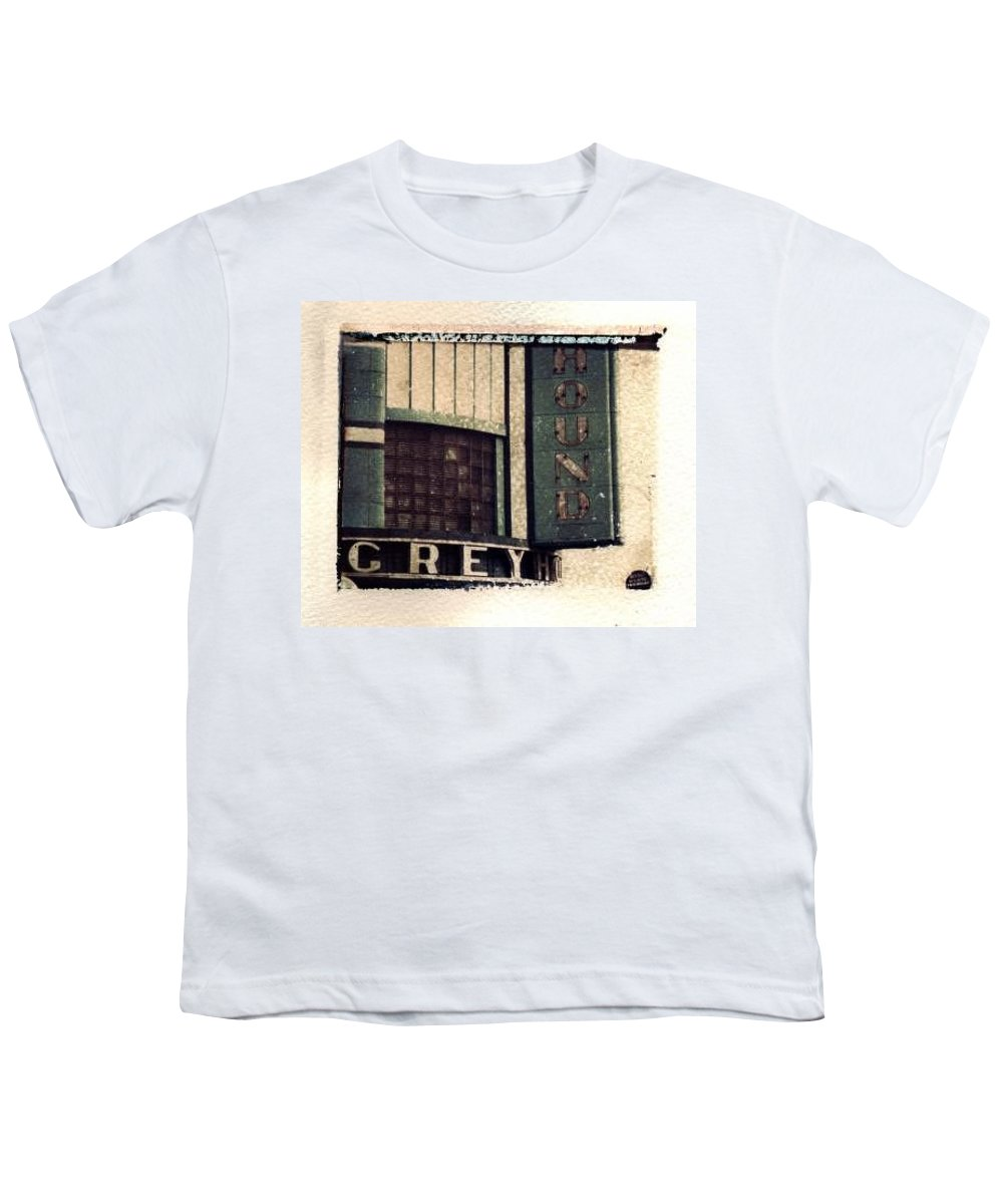 Polaroid Transfer Youth T-Shirt featuring the photograph Go Greyhound And Leave The Driving To Us by Jane Linders