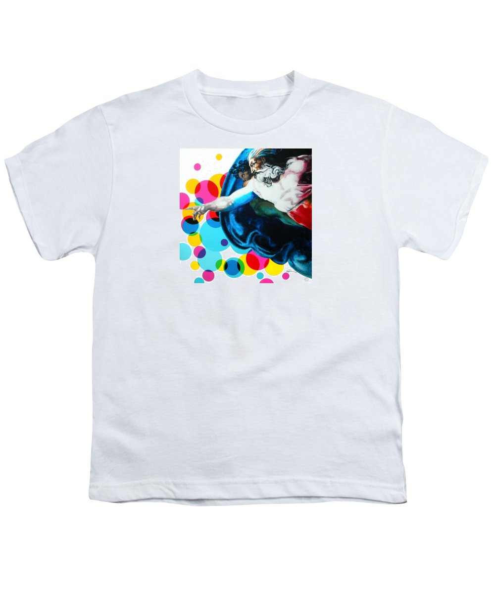 Classic Youth T-Shirt featuring the painting God by Jean Pierre Rousselet