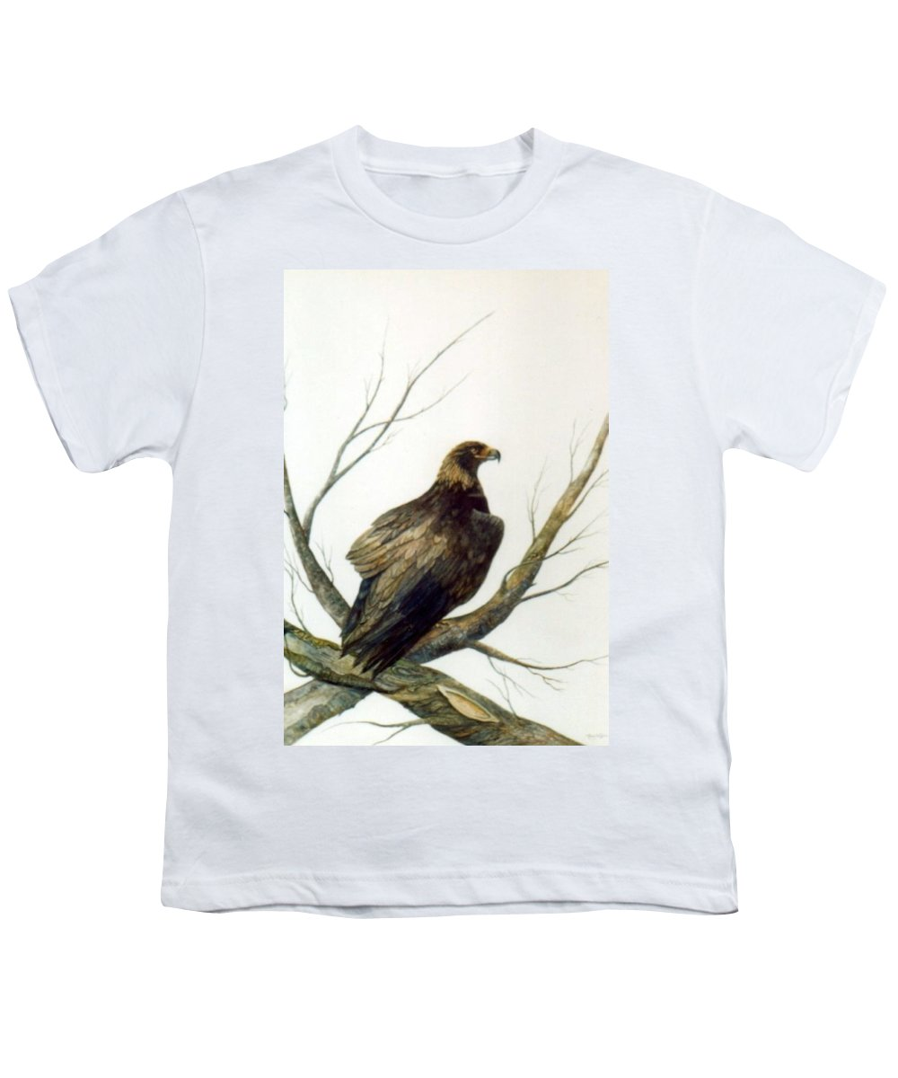Eagle Youth T-Shirt featuring the painting Golden Eagle by Ben Kiger