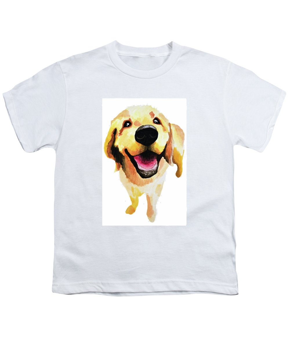 Dog Youth T-Shirt featuring the painting Good Boy by Amy Giacomelli