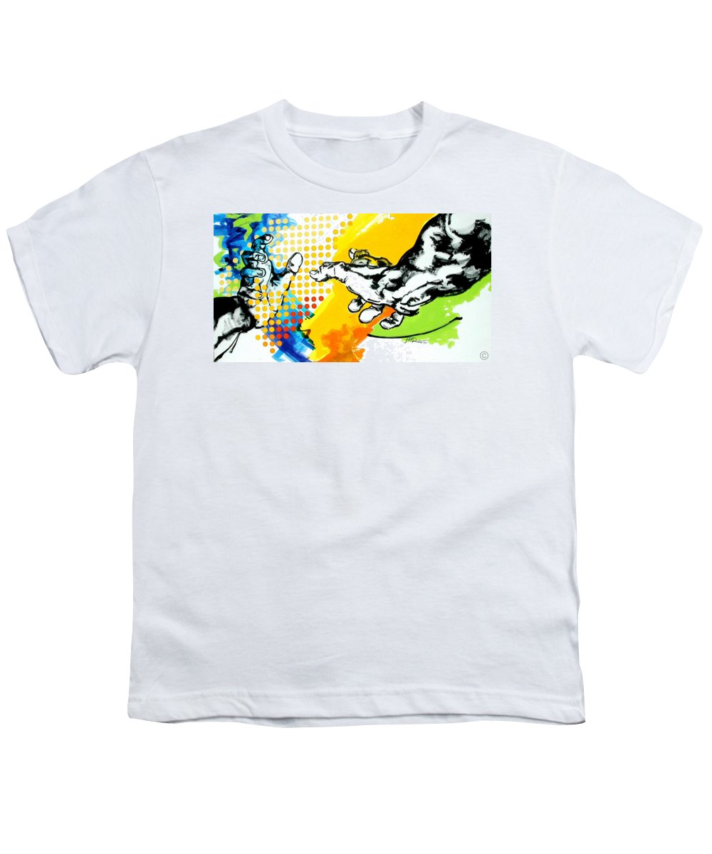 Classic Youth T-Shirt featuring the painting Hands by Jean Pierre Rousselet